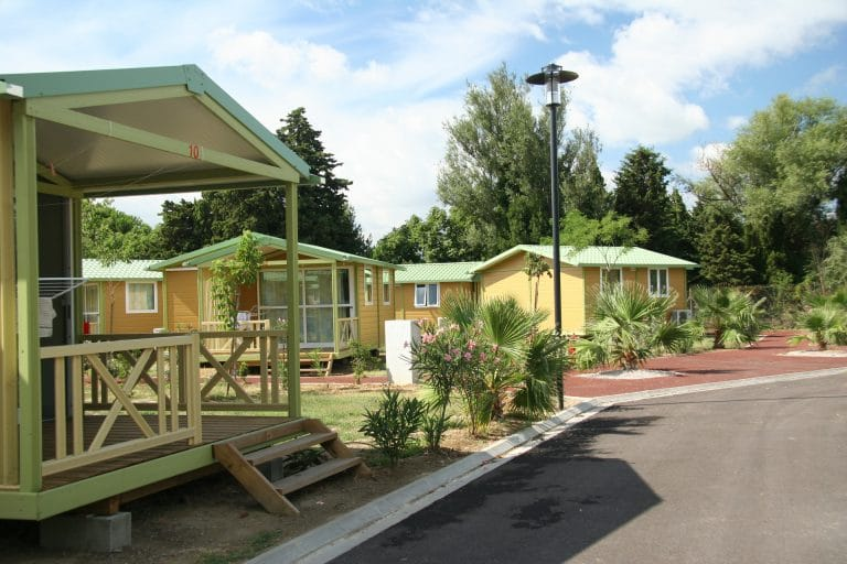 Chalet 5 places 2 chambres Camping Le Bosc 4* St-Cyprien 66