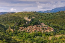 old village Castelnou in France Camping Le Bosc 4* St-Cyprien 66