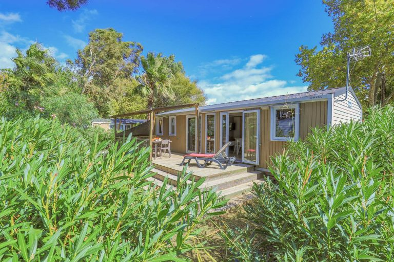 Mobil-home lodge 3 chambres Premium Camping Le Bosc 4* St-Cyprien 66